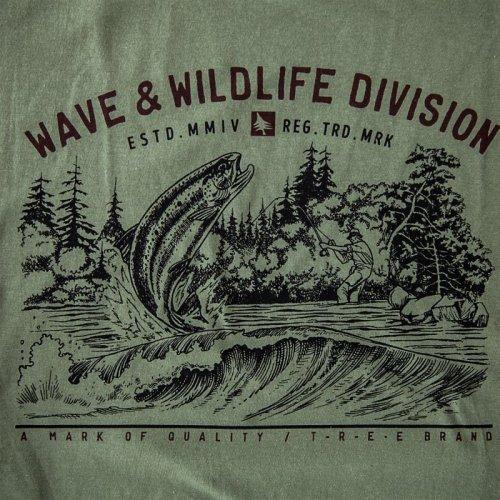 画像クリックで大きく確認できます Click↓1: フィッシング オーガニックコットン 半袖 Tシャツ(ミリタリー)S/Bait T-shirt (Military)