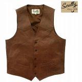 スカリー ウエスタン  レザー ベスト(アンティークブラウン)/Scully Western Lamb Leather Vest(Antique Brown)