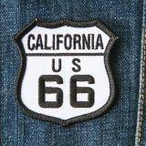 ワッペン カリフォルニア US ルート66 ブラック・ホワイト/Patch Route 66
