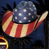 ブルハイド ウエスタン ストローハット アメリカンフラッグ スタースパングル 20X/Bullhide Star Spangled 20X American Flag Cowboy Hat