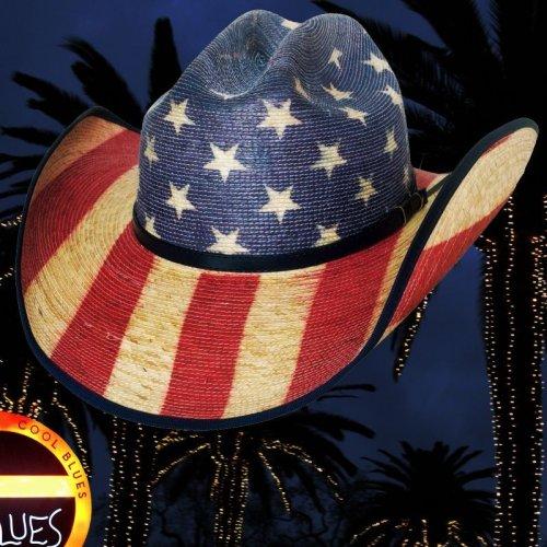 画像クリックで大きく確認できます Click↓2: ブルハイド ウエスタン ストローハット アメリカンフラッグ スタースパングル 20X/Bullhide Star Spangled 20X American Flag Cowboy Hat