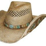 ハンドウーブン パナマ カウガール ストローハット(ナチュラル)M/Genuine Panama Hand Woven Straw Hat (Natural)