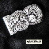 モンタナシルバースミス マネークリップ シルバー エングレーブ/Montana Silversmiths Fully Engraved Money Clip