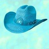 ブルハイド ウエスタン ストローハット イッチィグーニー(ターコイズブルー)/Bullhide Western Straw Hat Itchygoonie(Blue)