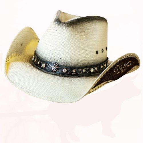 画像クリックで大きく確認できます Click↓2: ブルハイド ウエスタン ストローハット ルーズマイマインド(ナチュラル)/Bullhide Western Straw Hat Lose My Mind(Natural)
