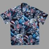 アメリカンイーグル&アメリカンフラッグ 半袖シャツ/Short Sleeve Shirt