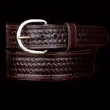 ウエスタン レザーベルト(バスケットブラウン・テーパード)/Western Leather Belt(Brown)