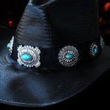 ブルハイド ウエスタン ストローハット ア ナイト トゥ シャイン(ブラック/シルバー・ターコイズコンチョ)/Bullhide Western Straw Hat A Night To Shine(Black)
