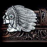 トニーラマ インディアンチーフ ウエスタン レザーベルト(ブラウン)/Tony Lama Indian Chieftain Western Leather Belt(Brown)