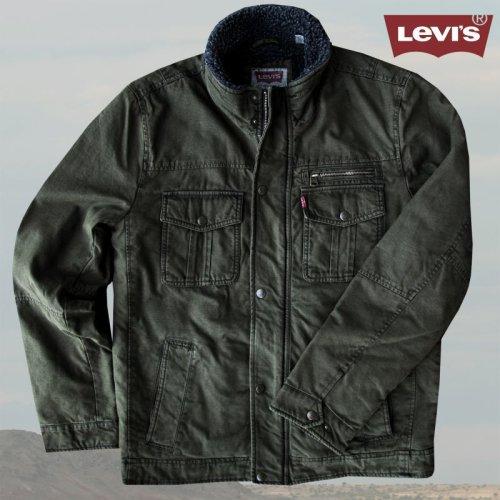 画像クリックで大きく確認できます Click↓1: リーバイス トラッカー ジャケット(オリーブ)/Levi's Jacket(Olive)