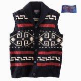 ペンドルトン ウール ベスト(ブラック・クリーム)/Pendleton Westerley Sweater Vest(Black/Cream)