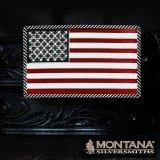 モンタナシルバースミス ベルト バックル アメリカンフラッグ/Montana Silversmiths Belt Buckle