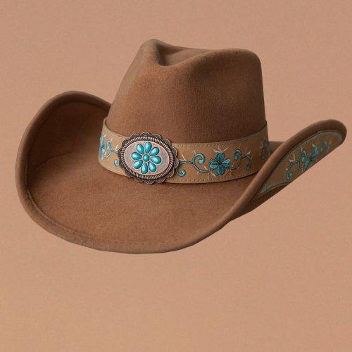 画像クリックで大きく確認できます Click↓1: ブルハイド カウガール ウール ハット オールフォーグッド(レディース・キャメル)/Bullhide Wool Cowgirl Hat(All For Good/Camel)