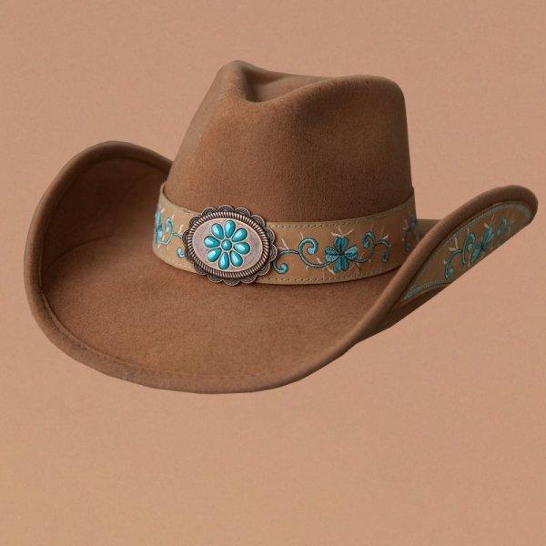 画像1: ブルハイド カウガール ウール ハット オールフォーグッド(レディース・キャメル)/Bullhide Wool Cowgirl Hat(All For Good/Camel)