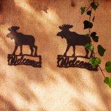 ムース ウェルカム サイン/Moose Welcome Sign