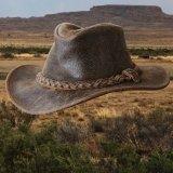 ヘンシェル ラスティック レザー ハット(ブラウン)/Henschel Leather Hat(Brown)