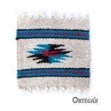 オルテガ ウール コースター ターコイズ・ブラック・レッド(12cm×12cm)/Ortega's Wool Coasters