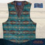 ペンドルトン U.S.A ヴァ-ジン ウール ベスト(ライトターコイズ)L/Pendleton U.S.A Virgin Wool Vest(Light Turquoise)