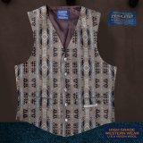 ペンドルトン U.S.A ヴァ-ジン ウール ベスト(ブラウン)/Pendleton U.S.A Virgin Wool Vest(Standing Rock)