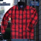 ペンドルトン ピュアーヴァ-ジンウールストリート クルーザー コート(レッド・ブラック)/Pendleton Street Cruiser Coat (Red Black)