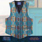 ペンドルトン U.S.A ヴァ-ジン ウール ベスト(ターコイズ)/Pendleton U.S.A Virgin Wool Vest(Turquoise)