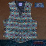 ペンドルトン U.S.A ヴァ-ジン ウール ベスト(ターコイズ・レッド)L/Pendleton U.S.A Virgin Wool Vest(Turquoise/Red)