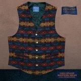ペンドルトン U.S.A ヴァ-ジン ウール ベスト(ブラック・ブルー・バーガンディー)L/Pendleton U.S.A Virgin Wool Vest(Black/Blue/Burgundy)