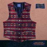 ペンドルトン U.S.A ヴァ-ジン ウール ベスト(ネイビー・レッド)L/Pendleton U.S.A Virgin Wool Vest Carson Springs(Navy/Red)