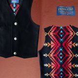 ペンドルトン ジャパンサイズ ウールベスト(ブラック)jpS/Pendleton Wool Vest(Black)