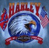 ハーレーダビッドソン バンダナ(ブラック・イーグル SEND ME YOUR BEST)/Harley Davidson Bandana