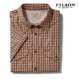 フィルソン 半袖 シャツ(ブリック・タンプラッド)XS/Filson Twin Lakes Short Sleeve Sport Shirt(Brick/Tan Plaid)