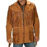 ウエスタン レザーフリンジジャケット(ブラウン)/Western Leather Fringe Jacket