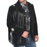 ウエスタン レザーフリンジジャケット(ブラック)/Western Leather Fringe Jacket