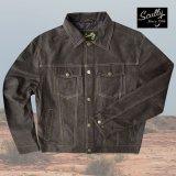 スカリー レザー ジージャンスタイル ジャケット(ダークブラウン)S/Scully Leather Jean Jacket(Dark Brown)