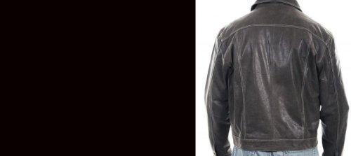 画像クリックで大きく確認できます Click↓3: スカリー レザー ジージャンスタイル ジャケット(ダークブラウン)S/Scully Leather Jean Jacket(Dark Brown)