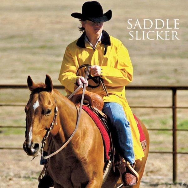 画像1: サドルスリッカー・乗馬用レインコート(イエロー)/M&F Western Products Double S Saddle Slicker(Yellow)