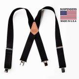 サスペンダー クリップ式(ブラック)/M&F Western Products Clip Suspenders(Black)