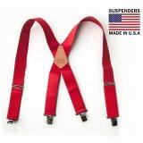 サスペンダー クリップ式(レッド)/M&F Western Products Clip Suspenders(Red)