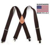 サスペンダー クリップ式(ブラウン)/M&F Western Products Clip Suspenders(Brown)