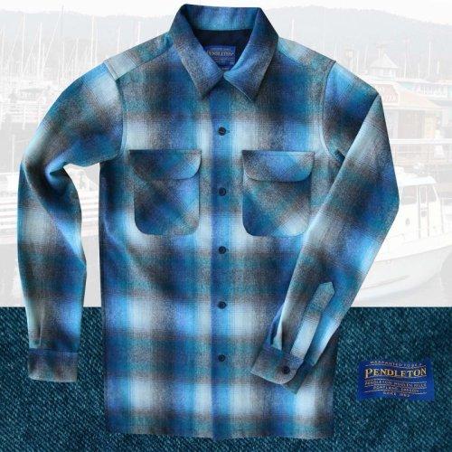 画像クリックで大きく確認できます Click↓1: ペンドルトン ウールシャツ ビンテージフィット ボードシャツ ラグーン・タンXXS/Pendleton Vintage  Fit Board Shirt