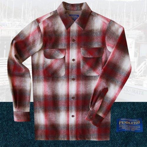 画像クリックで大きく確認できます Click↓1: ペンドルトン ウールシャツ ビンテージフィット ボードシャツ クラレット・タン/Pendleton Vintage Fit Board Shirt