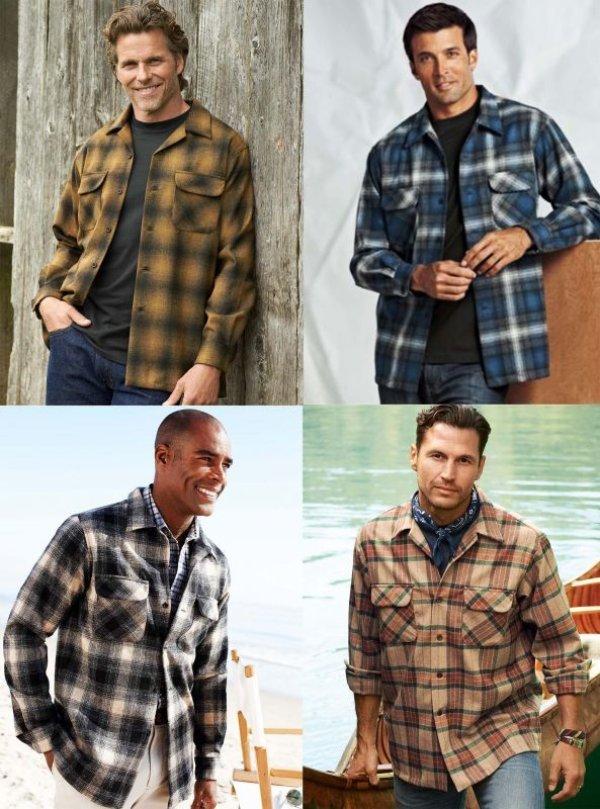 画像4: ペンドルトン ウールシャツ ビンテージフィット ボードシャツ クラレット・タン/Pendleton Vintage Fit Board Shirt