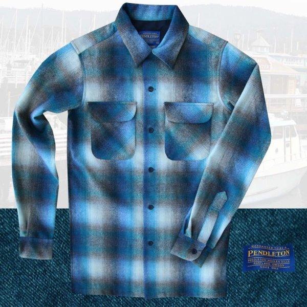 画像1: ペンドルトン ウールシャツ ビンテージフィット ボードシャツ ラグーン・タンXXS/Pendleton Vintage  Fit Board Shirt