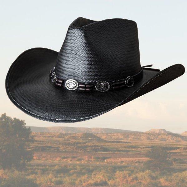 画像1: ブルハイド ウエスタン ストローハット(ブラック ヒルズ)/BULLHIDE Western Straw Hat BLACK HILLS(Black)