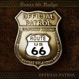 ルート66 オフィシャルパトロール バッジ/Route 66 Badge