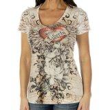 リバティーウエア ラインストーン ハート&ローズ 半袖Tシャツ(マルチ)/Liberty Wear Short Sleeve T-shirt(Women's)