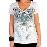 リバティーウエア ターコイズラインストーン 半袖Tシャツ(ホワイト)/Liberty Wear Short Sleeve T-shirt(Women's)