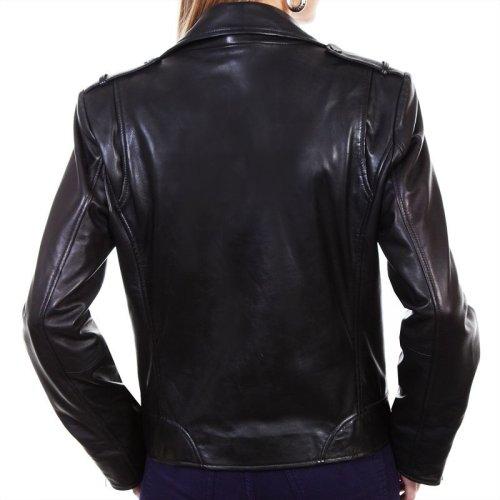 画像クリックで大きく確認できます Click↓3: スカリー レディース ラムレザー モーターサイクル ジャケット(ブラック)/Scully Soft Touch Lamb Motorcycle Jacket(Black)