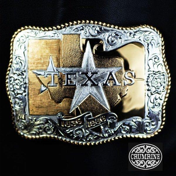 画像1: クラムライン ベルト バックル テキサス/Crumrine Belt Buckle Texas