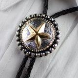 ボロタイ スター(シルバー・ゴールド・ブラック)/Western Bolo Tie Star